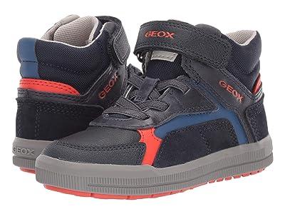 Geox Kids Jr Arzach 14 (Little Kid) (Navy/Orange) Boys Shoes