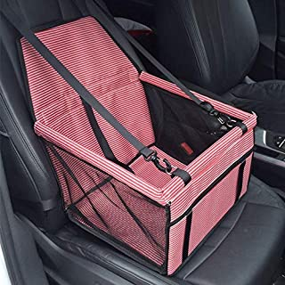 Deluxe Portable Travel Car Carrier Bag with Safety Leash for Small Dogs Cats Puppy Waterproof Breathable Pet Dog Cat Car Booster Seat Mat SaponinTree Dog Booster Car Seat Cover