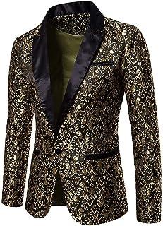iHENGH Charm Men's Casual One Button Fit Suit Blazer Coat Jacket Top