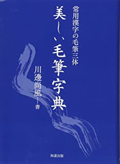 美しい毛筆字典 (常用漢字の毛筆三体)