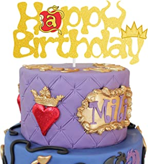 AERZETIX Descendants Cake Topper Birthday Descendants Themed Decor for Girls Sign Party Decorations Supplies