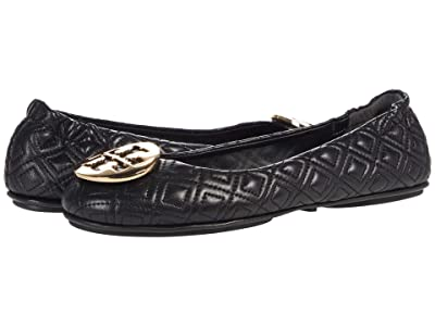 Tory Burch Quilted Minnie (Perfect Black/Gold) Women