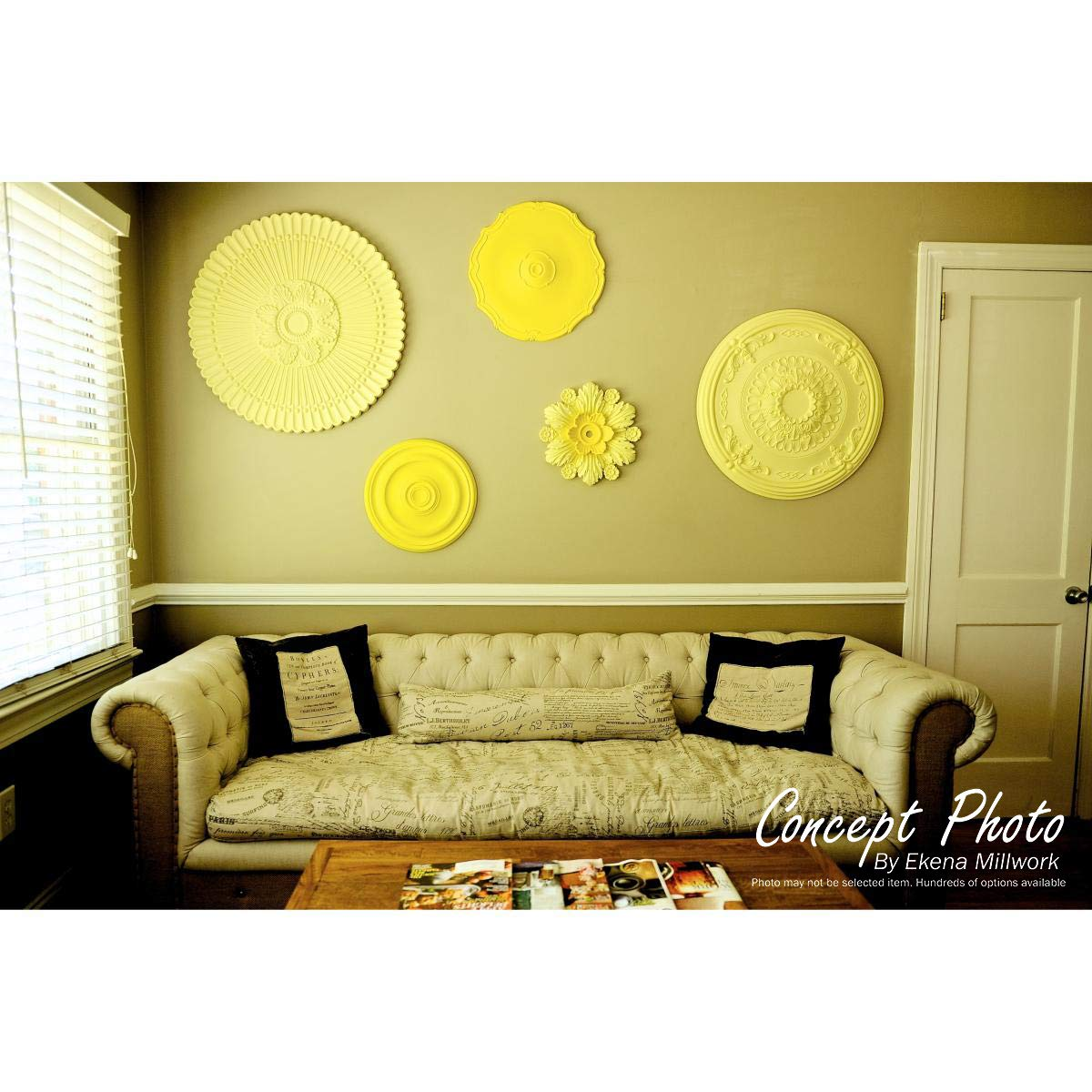 Fits Canopies up to 4 3//4 Fits Canopies up to 4 3//4 Two Piece Ekena Millwork CM23AS2 23 7//8 OD ID x 2 1//8 P Ashley Ceiling Medallion Factory Primed White Two Piece