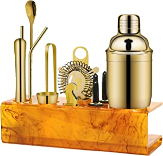 Sponsored Ad - X-cosrack Bartender Kid with Amber Stand Bar set, Martini Shaker for home - gold