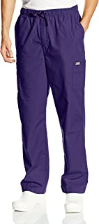 CHEROKEE Workwear Scrubs Men's Cargo Pant, Grape, 3X-Large