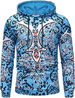 Men Hoodies Pullover Tops Casual Hoodie TShirt Lightweight Sweatshirt Fashionable Creative Pattern Printed Pullover Sweats...