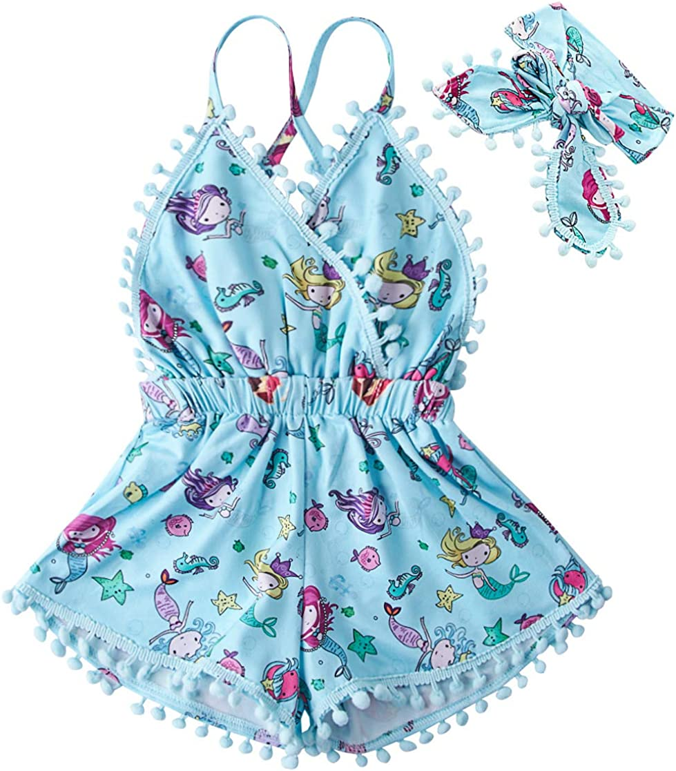 UNICOMIDEA Excellent 6M-3T Baby Girl Backless Romper Bodysuit shopping Outfit J Set