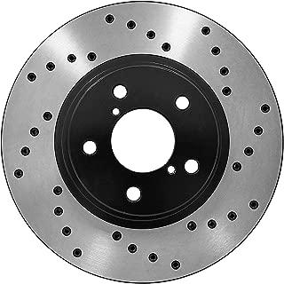 [Front E-Coat Drill Brake Rotors Ceramic Pads] Fit 05 06 Lexus RX330 Canada