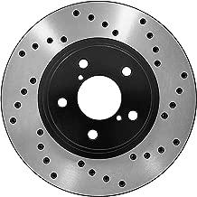 [Front E-Coat Drilled Brake Rotors Ceramic Pads] Fit 06-09 Nissan 350Z Base