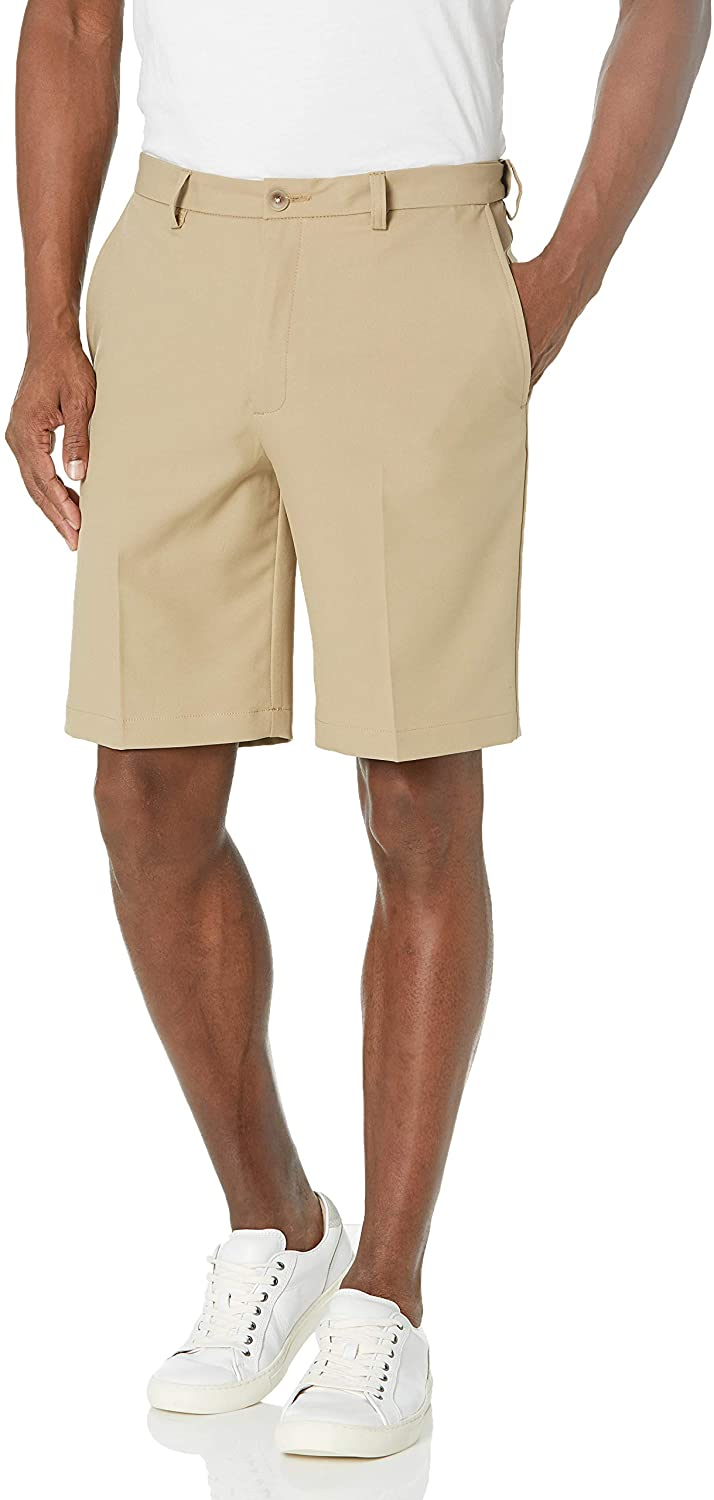 San Antonio Mall Haggar Men's Cool 18 Pro Straight Flat Outlet ☆ Free Shipping S Solid Front Stretch Fit