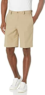 Haggar Men's Cool 18 Pro Straight Fit 4-Way Stretch Flat Front Expandable Waist Short with Big & Tall Sizes