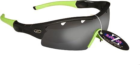 con un Iridium Vented Verde Espejo antideslumbrante lente Rayzor profesionales ligeros UV400/Negro Deportes Wrap navegaci/ón Gafas de sol