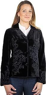 EW Collection Women's Embroidered Velvet Jacket