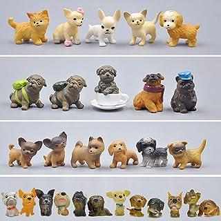 動物フィギュアセット 28個ミニ犬フィギュアおもちゃ 子犬おもちゃセット 小さい動物おもちゃモデル 子どもおもちゃ 誕生日 パーティー プレゼント