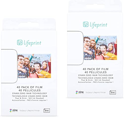 discount Lifeprint high quality 3x4 Premium Zink Instant Print Photo Paper (80 Pack) Compatible with lowest Lifeprint 3x4 Printers online