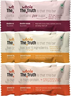 The Whole Truth - Protein Bars - Peanut Heavy - Pack of 6 (6 x 52g)