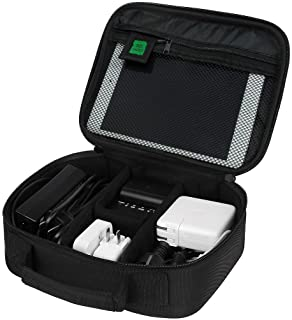 BAGSMART Electronics Travel Organizer Bag Hard Drive Case for Various USB, Phone, Cable, Charger, Black