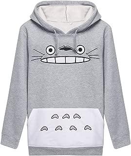 SuperSilk Men Women Totoro Print Hoodie Sweatshirt Teen Sweater Pullover Tops