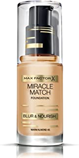 Max Factor Miracle Match Blur & Nour Foundation, Warm Almond 45
