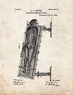 Adjustable Embalming Table Patent Print Old Look (5