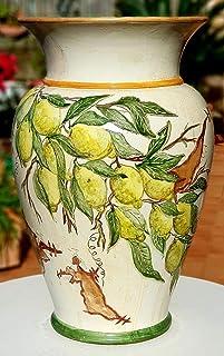Portaombrelli Linea Limoni Ceramica Realizzato e Dipinto a mano Pezzo Unico Oggetto d'arte Le Ceramiche del Castello Made ...