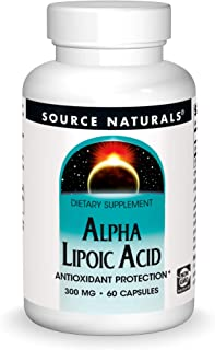 Source Naturals Alpha Lipoic Acid 300 mg Supports Healthy Sugar Metabolism, Liver Function & Energy Generation - 60 Capsules