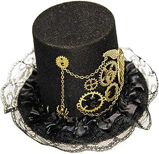 c9c98b7e41de3 MEiySH Women s Steampunk Victorian Mini Top Hat Gothic Hair Clip Costume  Accessory