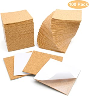 Blisstime 100 Pcs Self-Adhesive Cork Sheets 4