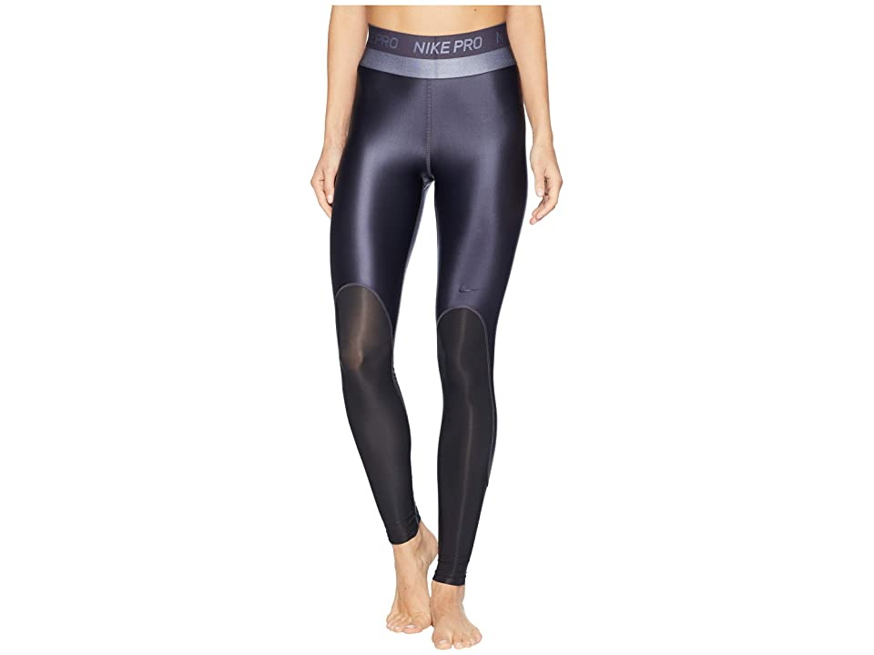 Nike Pro Hypercool Glamour Tights (Gridiron/Black/Clear) Women