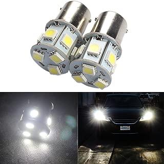 ANFTOP 2x 6v Volt 1156 Ba15s Car Led Light bulb 9SMD 5050 LED for Switchback Back Up Reverse Lights Brake Lights Tail Lights Turn Signal Bulbs White Color