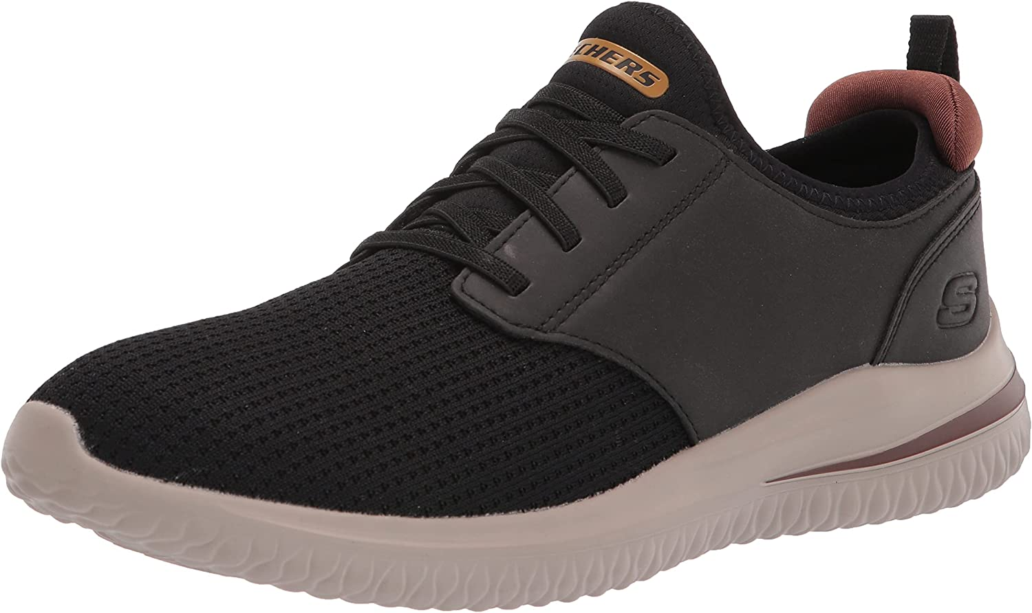 Skechers Men's Delson 3.0 Round Toe Bungee Lace Slip On