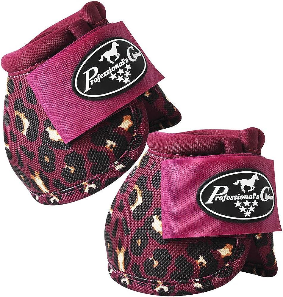 Professionals Choice Equine Ballistic Hoof Overreach Bell Boot, Pair Cheetah