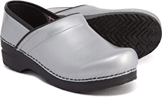 Sanita Professional Silver Women's Limited Edition Shiny Clogs