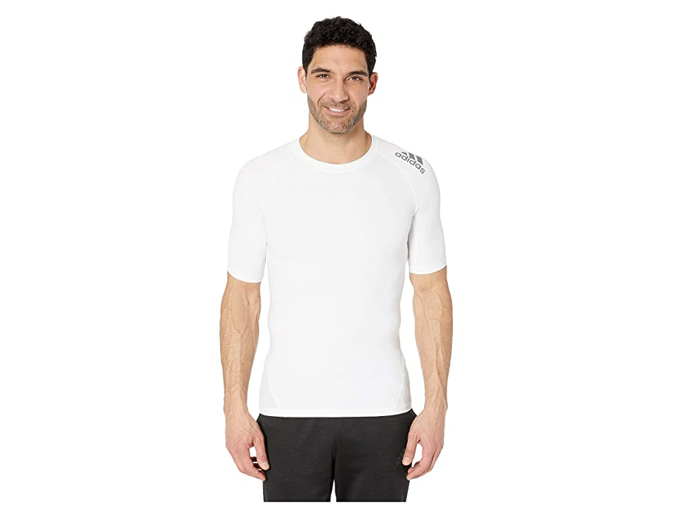 adidas Short Sleeve Alphaskin Sport Tee (White) Men
