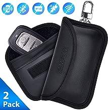 Samfolk Faraday Key Fob Protector, 2019 New Faraday Bags Anti Theft Keyfob Cage, RFID Signal Blocking Key Fob Protector Pouch Case, Mini Size