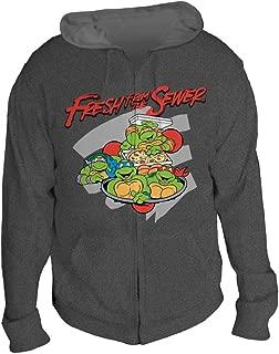Teenage Mutant Ninja Turtles Fresh from the Sewer Mens Gray Hoodie, Large
