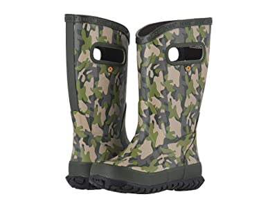 Bogs Kids Rain Boots Army Camo (Toddler/Little Kid/Big Kid) (Army Green Multi) Boys Shoes
