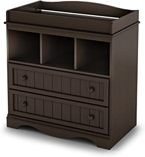 South Shore 2-Drawer Changing Table with Open Storage, Espresso