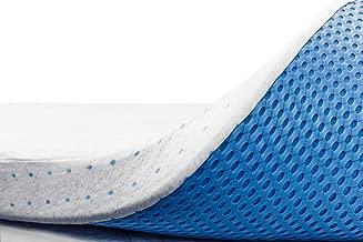 ViscoSoft 3 Inch Memory Foam Mattress Topper King   Select High Density Ventilated Mattress Pad
