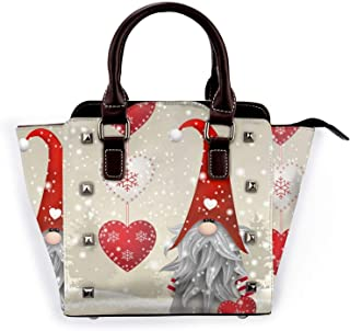 InterestPrint Womens Small Shoulder Bag Lightweight Purse PU Leather Bag with Strap Winter Gold Snowflakes Stars