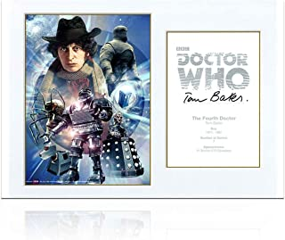 Tom Baker Signed Dr Who Poster
