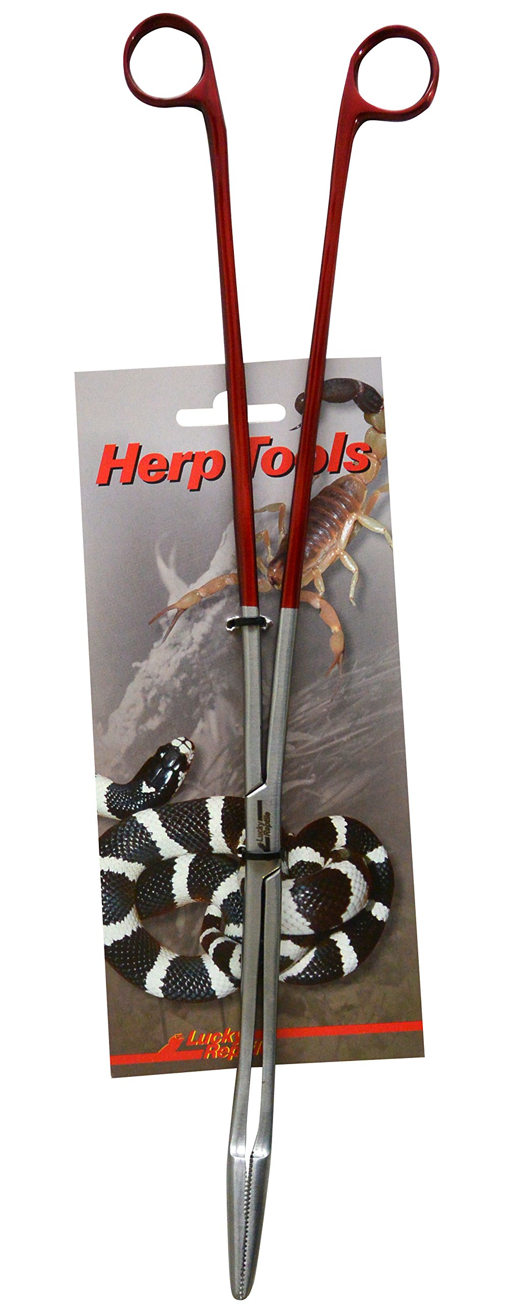 Lucky Reptile ZA-40 Feeding Angular Tongs 40 cm