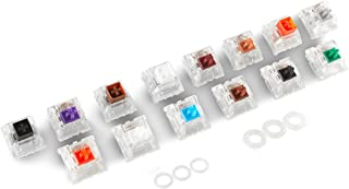 Glorious MX Switch Tester / Sample Pack for Mechanical Keyboards Includes: 14 Gateron/Kailh Switches + O-Rings
