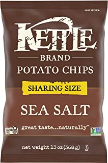 Kettle Brand Potato & Sea Salt Chips, Sharing Size, 13 Oz, 9 Count