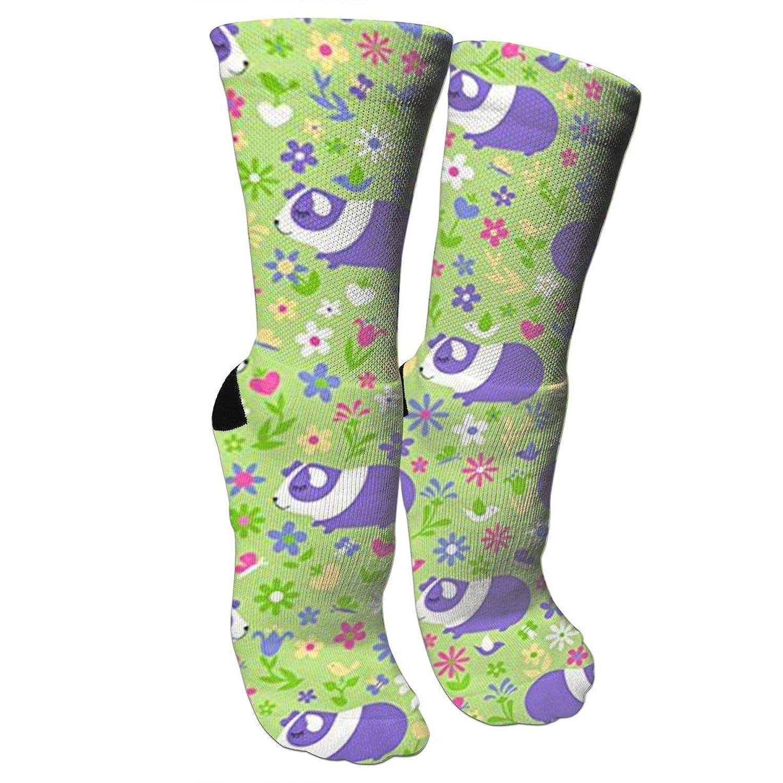 靴下 抗菌防臭 ソックス モルモット、ピンク、パープルアスレチックスポーツソックス、旅行&フライトソックス