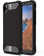 Boleyi Case for Xiaomi Redmi 7A, [Heavy Duty] [ Slim Hard Case] [ Shockproof] Rugged Tough Dual Layer Armor Case, Four corners thickened,Cover for Xiaomi Redmi 7A -Black