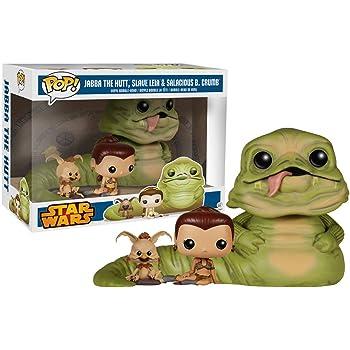 Star Wars Return of the Jedi Exclusive Jabba, Slave Leia & Salacious B. Crumb... by POP