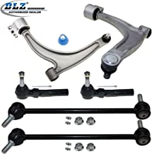 DLZ 6 Pcs Suspension Kit-2 Lower Control Arm Ball Joint Assembly 2 Outer Tie Rod End 2 Sway Bar Compatible with Chevrolet Malibu 2004-2010/Pontiac G6 2005-2009/Saturn Aura 2007-2009 ES800086 K620180