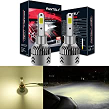 FANTELI H3 4300K Warm White LED Headlight Bulbs All-in-One Conversion Kit - 72W 8000LM Fog Driving Lights Foglights Extremely Bright
