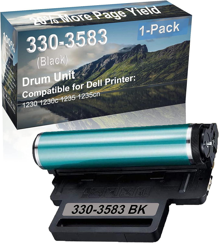 1-Pack Compatible 330-3583 Drum Kit use for Dell 1230 1230c 1235 1235cn Printer (Black)